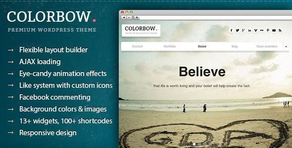 COLORBOW: ONE PAGE CREATIVE PHOTOGRAPHY THEME  #photographytheme