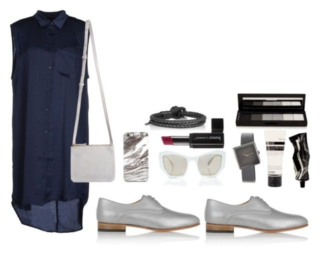"""navy x grey"" by viennaelgiva on Polyvore"