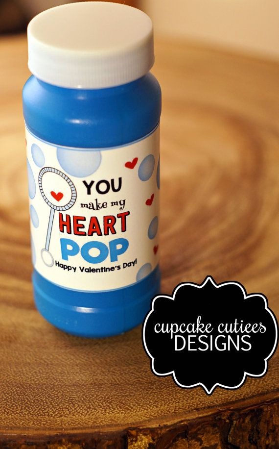Bubbles Wrap Label Valentine  Bubble pack  by CupcakeCutieesParty
