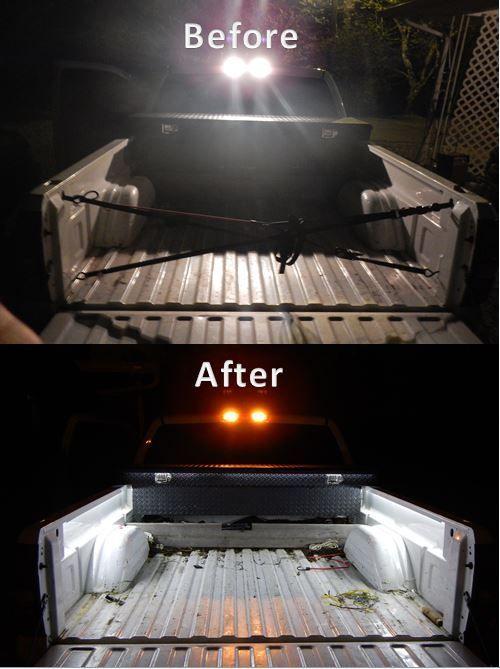 Led strip bed lights.