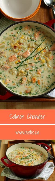 Salmon Chowder | One-Pot Wonders | lentils.ca //