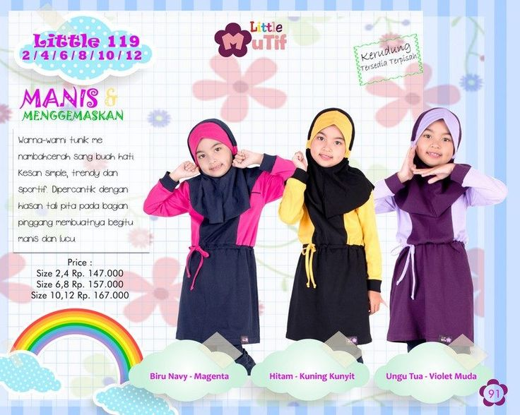 Baju Blus Anak Little Mutif Model LM-119 FREE JILBAB (LIMITED)