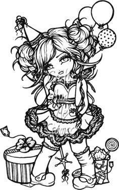 Image Result For Whimsy Girls By Hannah Lynn Coloring