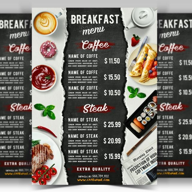 Cafe Breakfast Menu Syr