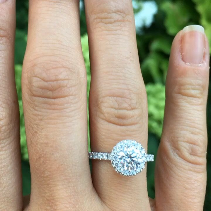 Halo ring diamond engagement ring custom designed