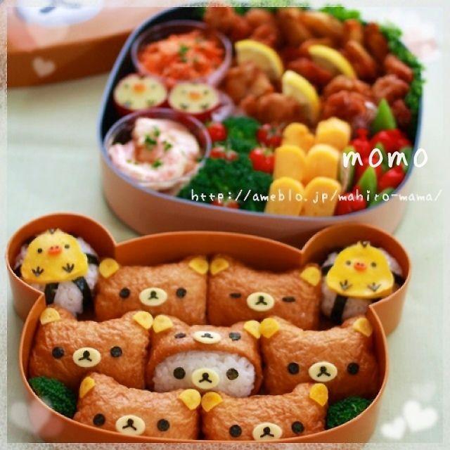 りらっくま べんと ! 食べたい!^_^ #lunchbox #inari-sushi