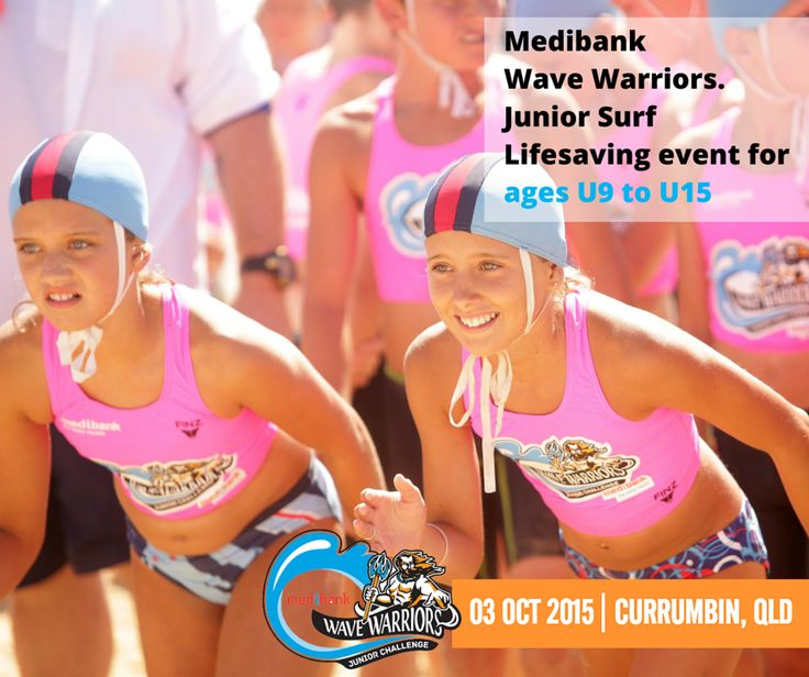 Saturday 3rd October sees our event at host club, Currumbin Vikings SLSC on the sunny Gold Coast.  Check out our website for the latest info: http://bit.ly/currumbin2015  Remember, all Medibank members will receive a 15% discount on checkout.  #medibankwavewarriors #medibank #wavewarriors #currumbin #goldcoast #juniorslsc #GenBetter