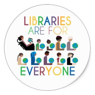 Rainbow Libraries Are For Everyone Classic Round Sticker