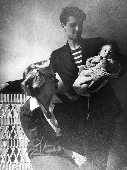 Little Robert De Niro with his parents, Virginia Admiral and Robert De Niro Sr. ~ NYC, 1944