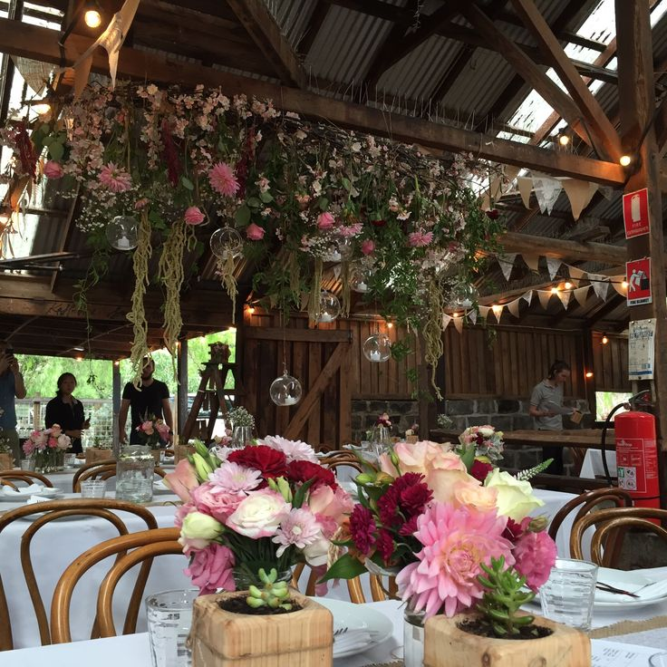 Floral installation - the barn - Collingwood Childrens farm