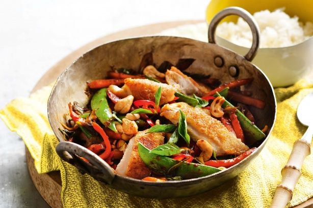 Nothing could be easier than this quick crispy chicken, chilli and basil stir-fry.