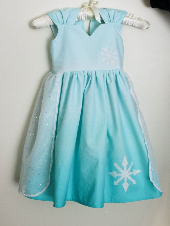 Disney Frozen Elsa Inspired Practical Princess Dress by greensies, $55.00