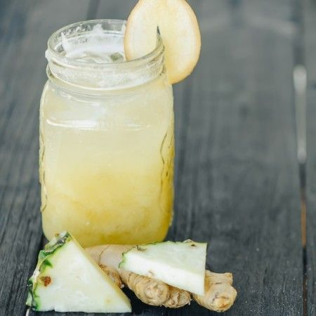 Estratto di ananas, finocchio e zenzero