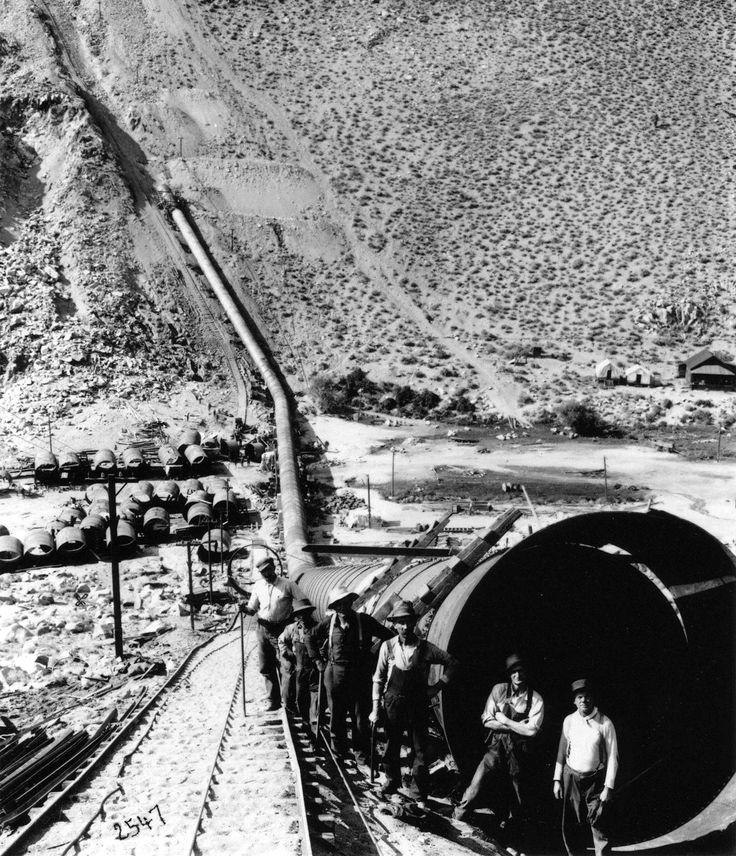 Construction of the Los Angeles Aqueduct circa 1912
