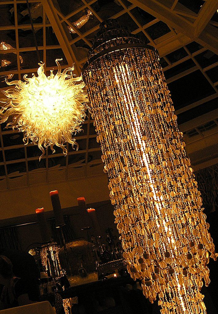 Gorgeous chandeliers in Pure - creates a magical atmosphere!