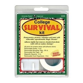 College survival kit... tape, and hooks for the Residence Hall