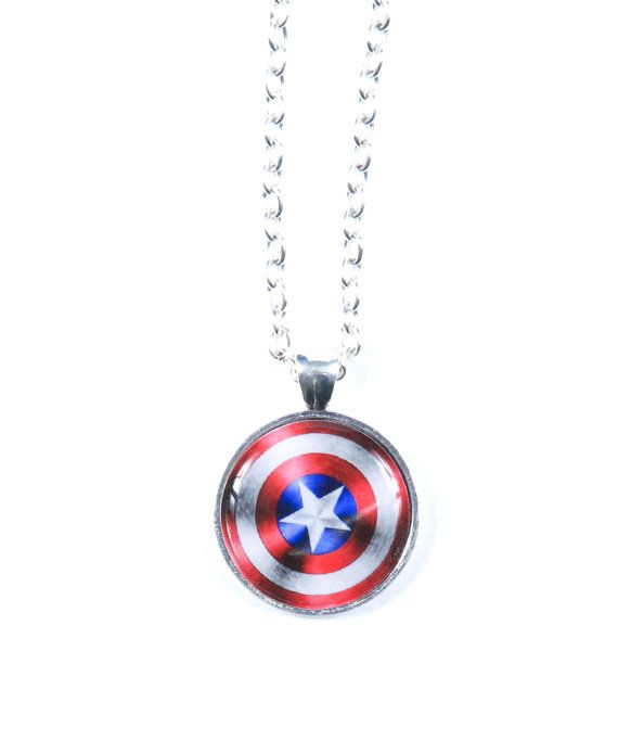 captain america earrings captain america shield necklace jewelry 8215