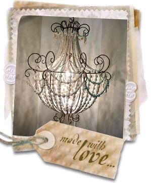 Ceramic chandelier from hellooow