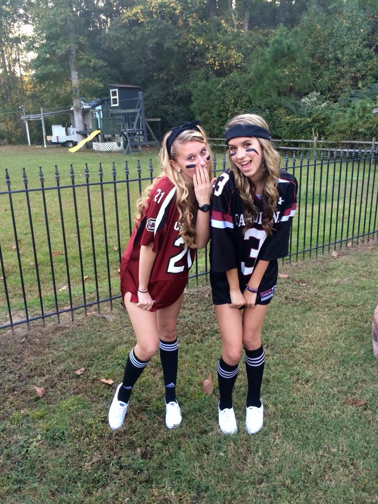 cute halloween costume black spandex shorts any type of jersey athletic socks - Girls Football Halloween Costume