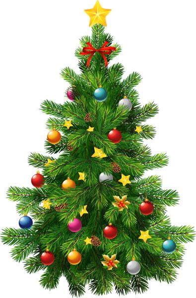 Christmas tree clip art large | Clip Art Holiday Scrapbook ...