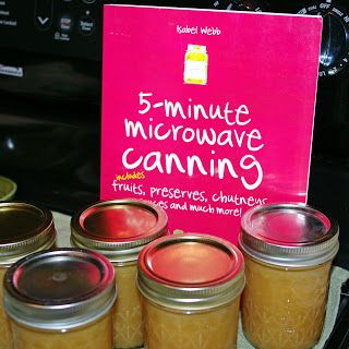 Canning apple butter in the microwave {With metal lids!}