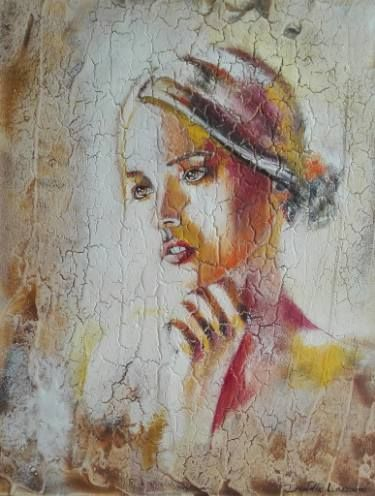 "Saatchi Art Artist Donatella Marraoni; Painting, ""Whispers"" #art"
