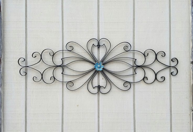 Wrought Iron Wall Art / Metal Wall Art / Large Metal Wall Art / Large Wrought Iron Wall Decor / Metal Wall Decor  / Flower Wall Decor by AshlynColelee on Etsy https://www.etsy.com/listing/485383928/wrought-iron-wall-art-metal-wall-art