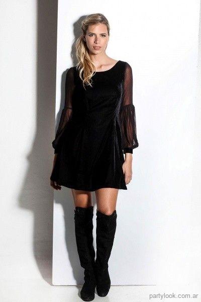 3d27440c0 vestido de terciopelo con mangas largas invierno 2018 Sathya | My ...