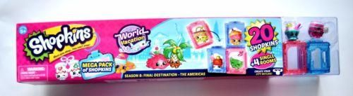 New - Shopkins - Mega Pack - World Vacation The Americas 20 + 4 Single Rooms