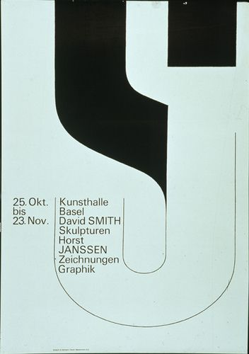 Kunsthalle Basel — Armin Hofmann#design #graphicdesign #typo #typography #type #fonts #color #art