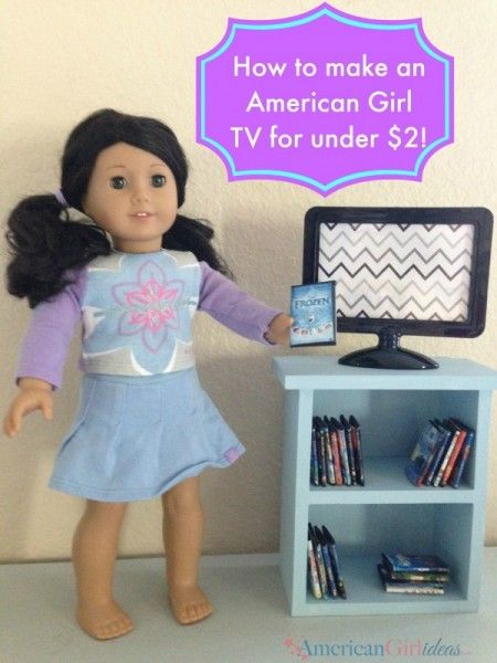 This American Girl Doll TV was very inexpensive. The TV only cost $2! Of course, if the girls are going to watch movies, they need a TV to watch them on!