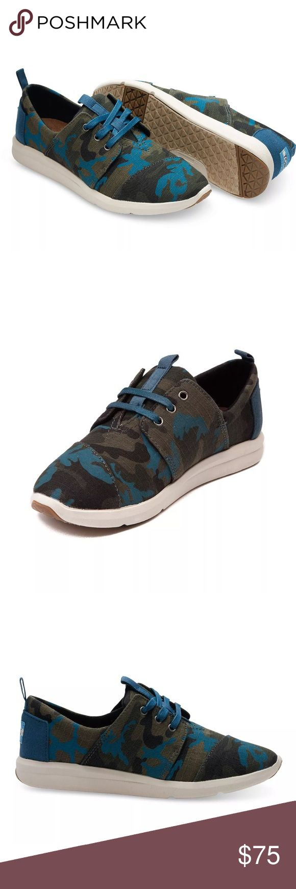 TOMS CAMO CANVAS PRINTED DEL REY SNEAKERS SZ 5.5 Women's Size 5.5 TOMS camouflage Del Ray sneakers No flaws or defects, smoke & pet free. All offers welcome. No trades! TOMS Shoes Sneakers