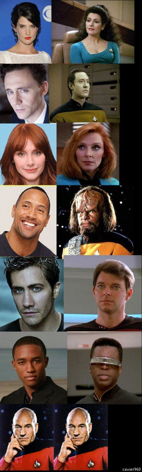 Star Trek: Next Generation reboot. Well, good casting, fair enough, but do we need a reboot? Don't try to fix something that isn't broken...