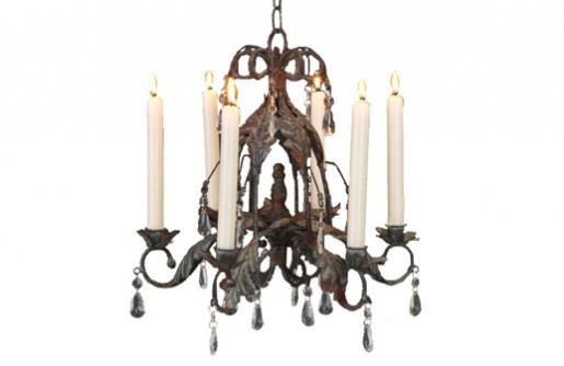 French style 6 arm antique grey chandelier for Chandelier mural antique