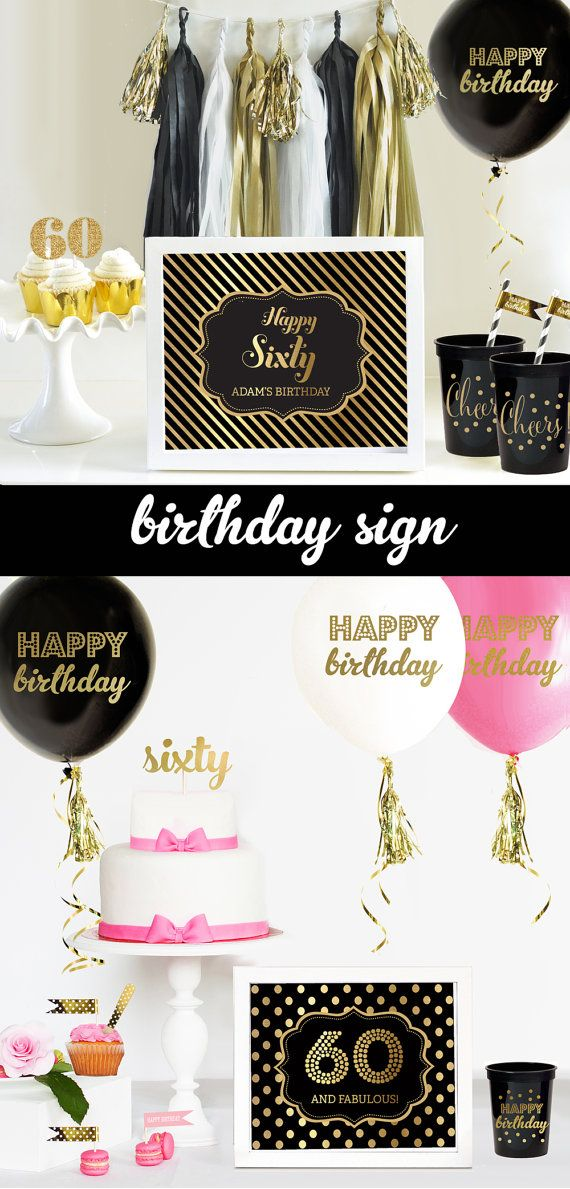 60th birthday decorations 60th birthday for men or by for 60th birthday decoration ideas