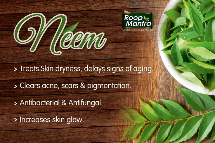 Did you know the beneficial effects of #Neem on Skin?