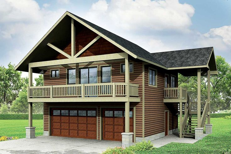 Garage With Apartment And Vaulted Spaces   72768DA | 2nd Floor Master  Suite, CAD Available