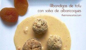 Albóndigas de tofu con salsa de albaricoques en thermomix