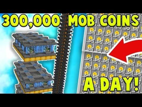 OP MOB COIN FARM Makes 300,000 COINS A DAY! | Minecraft Skyblock