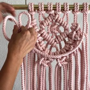 How to Add Layers to Your Work // Hi friends. Here is one way to add Layers to your work. Simply add a piece of rope using the Larks Head Knot as shown. Tag a friend who may be into this. // If you're new here, Hello. I offer DIY Macrame Patterns and Kits at the link in my bio ➡️ @reformfibers or at reformfibers.etsy.com Also, You can find more helpful videos at #TGIFF➰ (Thank Goodness Its Fiber Friday) // Where do I purchase my 100% Cotton 3 Strand Rope? This rope is hand dyed by m...