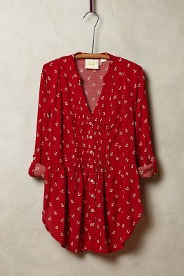 Maeve Composed Pintuck Buttondown #anthrofave #anthropologie