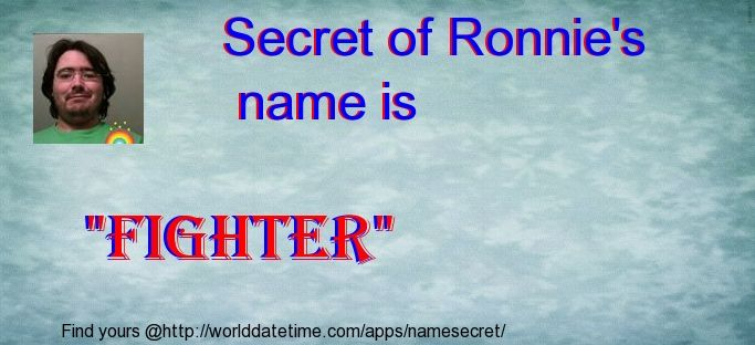 Check my results of Find your names secret Facebook Fun App by clicking Visit Site button