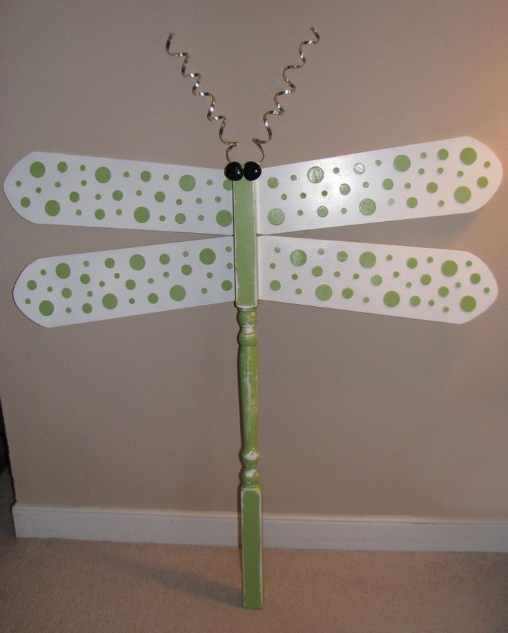 158 best crafts fan blades saws etc images on pinterest dragonfly made with a wooden spindle and ceiling fan blades aloadofball Image collections
