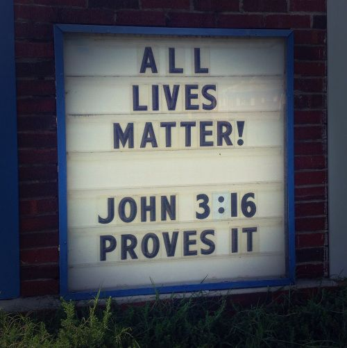 white lives matter | White Lives matter | The Recovering Legalist