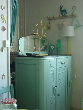 Mint Commode Home Decor