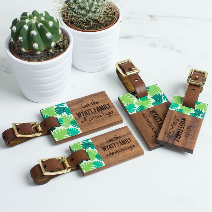 Personalised Wood Luggage Tags Family Set | Create Gift Love £44    This stunning walnut and leather luggage tag set is the perfect accessory for a family holiday. A great Mother's Day gift.     http://www.creategiftlove.co.uk/collections/personalised-mothers-day-gifts/products/personalised-wood-luggage-tags-family-set    #mothersday #travel #personalised #creategiftlove