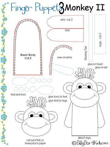 обезьяна перчаточная игрушка