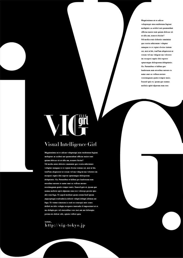 vig Typograpy Black & White ©GRAPHITICA