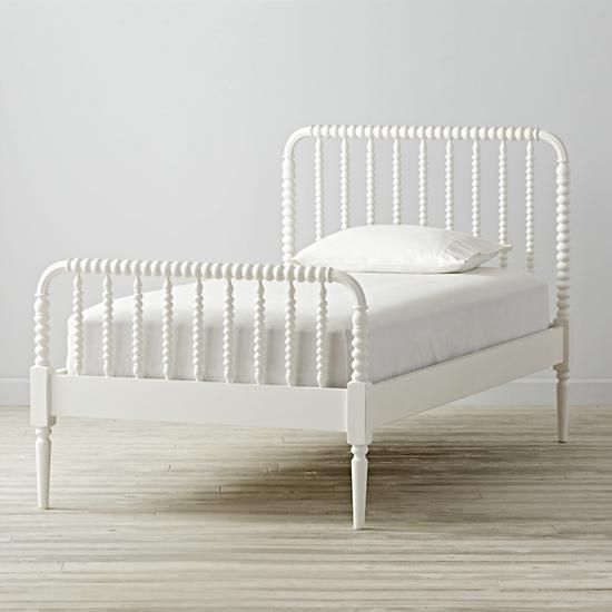 Jenny Lind Twin Bed (White) | The Land of Nod - Twin size bed $499, mattress $399 at Land of Nod = $1,796