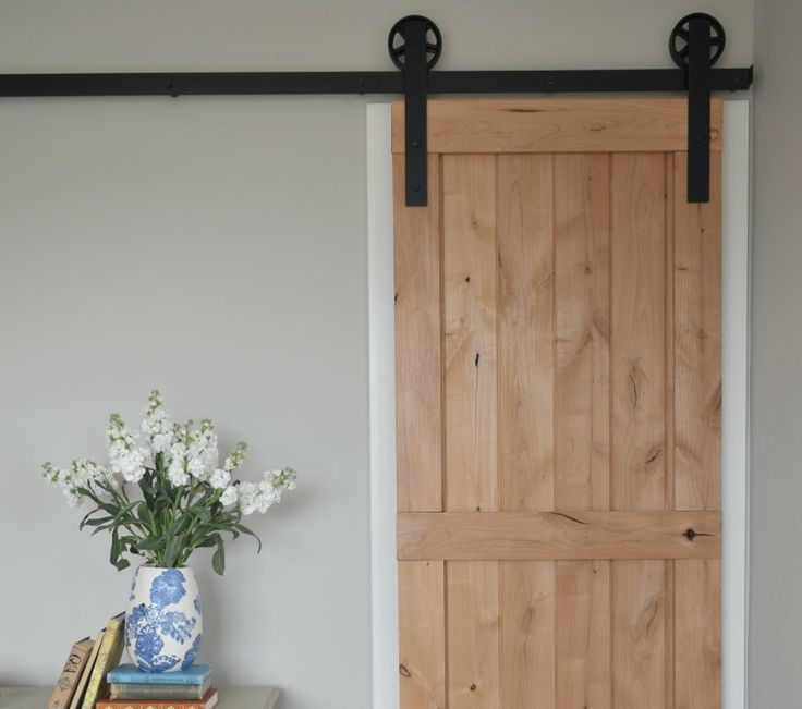 Even small doors look great hung this way. And they are space savers.